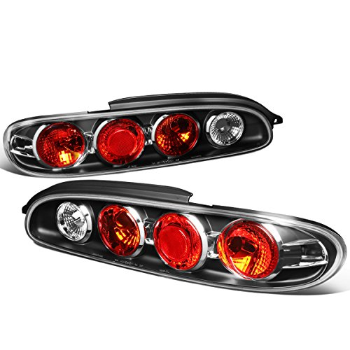 For 1993-1997 Mazda MX6 MX-6 Black Housing Altezza Style Tail Light Brake/Parking/Reverse Lamps