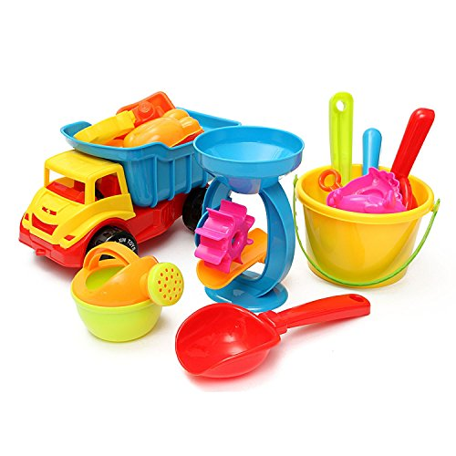 Sand Wheel Watering Play Bath Toys Classic 21pcs/set Set Imagination And Hand Skills The Creations Are (Farm Tractor Deluxe Party Pack)