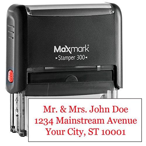 MaxMark Custom Three Line Self Inking Stamp - 3/4