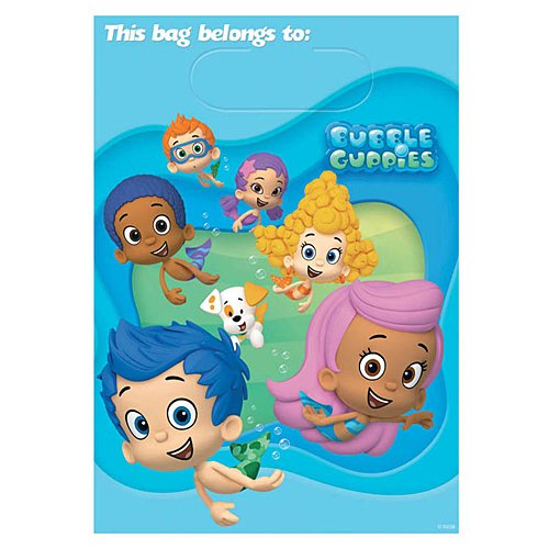 Bubble Guppies Treat Bags, 8 Pieces, Made from Plastic, Party, 9