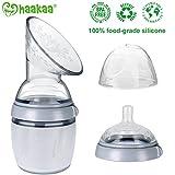 Haakaa Breast Pump Third Generation - New Multi-Functional Manual Breast Pump & Bottle from The International Brand Haakaa 160ML