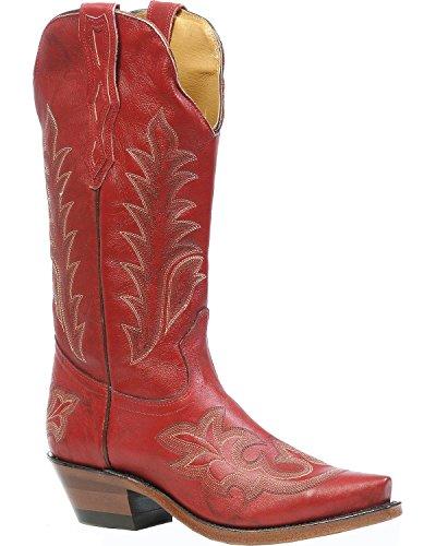 American Laarzen - Cowboylaarzen: Snakeskin Cowboy Laarzen-bo-3636-50-c (voet Normaal) - Vrouwen - Rood