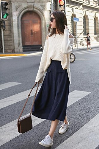 02e647b5118 Amazon.com   Korean fashion new winter suit skirt strapless long-sleeved  white shirt striped sweater two-piece female backing for women girl   Beauty