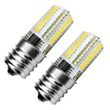 Kakanuo E17 LED Bulb Microwave Oven Light Dimmable 4 Watt Warm White 3000K 72X3014SMD AC110-130V (Pack of 2)