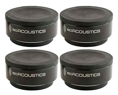 IsoAcoustics ISO-Puck - Isolation Puck for Studio Monitors and Amps - Black (Set of 4)
