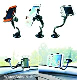 WATER ASLEEP One Touch Windshield Universal Smartphone Car Mount Holder Cradle for Iphone 6s 6s Plus 6s+ 6 6+ 5 5s 5c 4 4s Samsung Galaxy S6 S6 Edge+ S5 S4 S3 Note 5 4 3 2 HTC M9 M8 Lg G3 G2 and All S