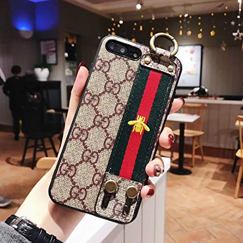 iPhone 8 Plus Case, Elegant Style Leather Case, Shockproof Protective Cover Case, Compatible with New Apple iPhone 8 Plus and iPhone 7 Plus
