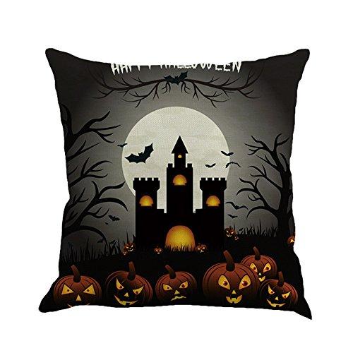 PENGYGY Halloween Ghost Pumpkin Pillow Case Sofa Waist Throw Cushion Cover Home Decor Cushions Pillow Covers Sofas (B)