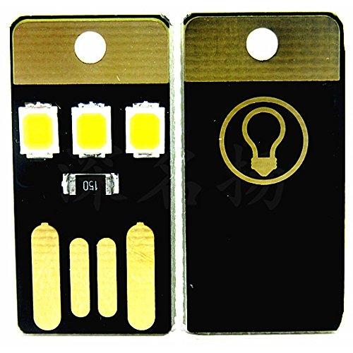 10pcs JacobsParts 3 LED USB Portable Night Light Bright Mini Keychain Camping Car Lamp Module