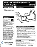 Moen DN7015 Home Care 23.25-Inch Toilet Safety Bar