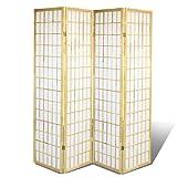 Magshion Oriental Room Divider Hardwood Shoji Screen (4 Panel-natural)