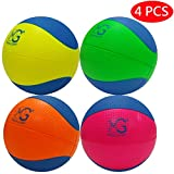 Macro Giant 6 Inch (Diameter) Safe Soft Foam Basketball, Set of 4, Neon Colors, Training, Practice, Playground Ball, Kid Sports Toys, Kid Toy Gift, Birthday Gift