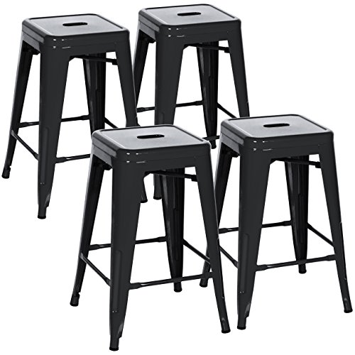 Best Choice Products Indoor Outdoor Stackable Backless Set Of 4 Metal 24
