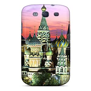 Hot Design Premium NQaEPUf8046oaDuJ Tpu Case Cover Galaxy S3 Protection Case(saint Basils Cathedral)