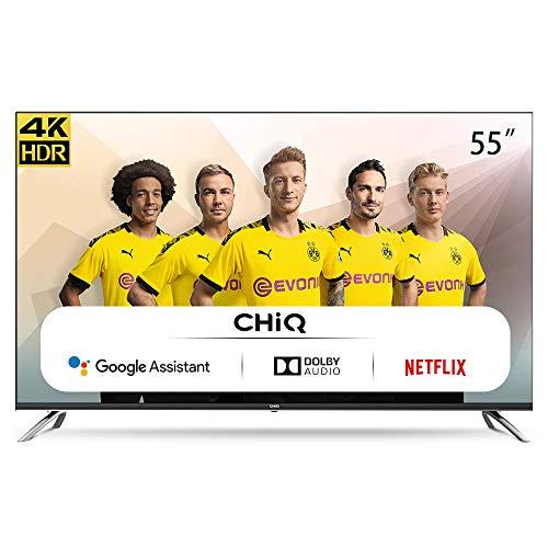 CHiQ U55H7A – 55 inch 4K Ultra HD – Android 9.0 – Chromecast – Dolby Audio