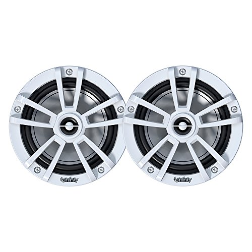 Infinity 622MLW Marine 6.5 Inch RGB LED Coaxial Speakers - White ()