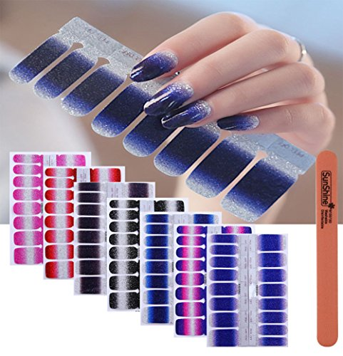 WOKOTO 6Pcs Nail Polish Stickers With 1Pc Nail File for sale  Delivered anywhere in USA