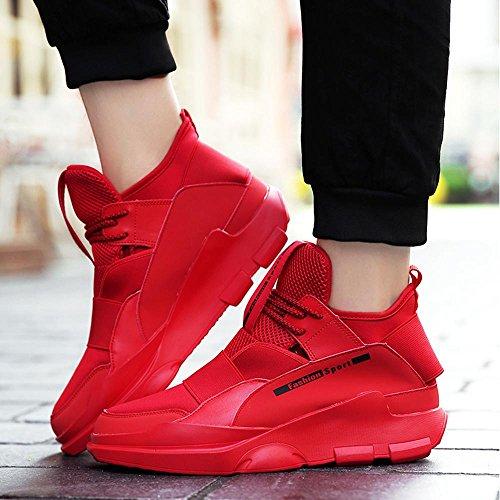 Freizeit Herrenschuhe Version Schuhe Trend Koreanische Winter Sneaker Plate xiaolin Rot Innerhalb Erhöhen qBUnwEatx