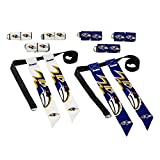 Franklin Sports NFL Baltimore Ravens Youth Flag Football Set