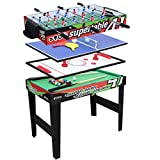 IFOYO Multi-Function 4 in 1 Steady Combo Game Table, Hockey Table, Soccer Foosball Table, Pool Table, Table Tennis Table, 3ft
