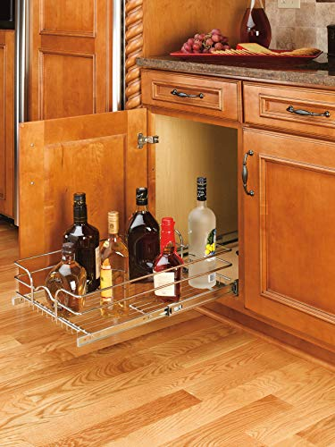 Rev-A-Shelf - 5WB1-2122-CR - 21 in. W x 22 in. D Base Cabinet Pull-Out Chrome Wire Basket by Rev-A-Shelf (Image #3)