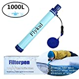 Flykul Personal Water Filter, Mini Water Filtration System for Hiking, Camping, Travel, and Emergency Preparedness Portable Water Purifier Straw 264 Gallons (1000L) Emergency Camping Equipment