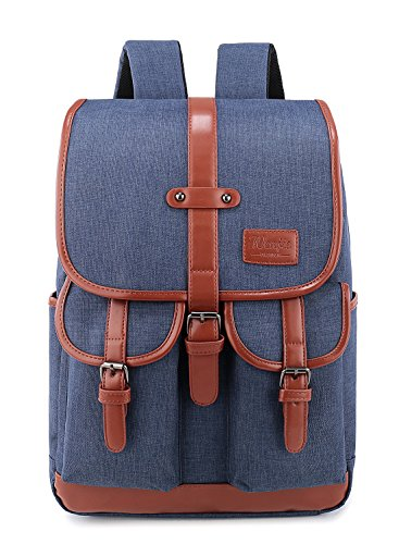 Weekend Shopper College Laptop Backpack Bookbags for Women and Men Fit up to 15.6 inch Laptop Blue (Stylish Bookbags)