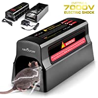 Abco Tech Electronic Humane Rodent Zapper - Effective Mouse Trap Killer for Rats, Mice – No Poison Use - 7000v Shock Instant Exterminator – Safe, Mess-Free & Non-Toxic That Works {New & Upgraded}