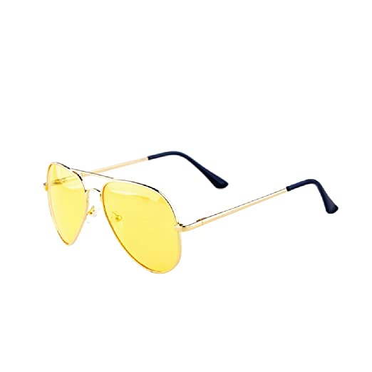 38206258be25 Sxacntg Driving, HD Night Vision Glasses,Aviator Polarized Yellow Lens for  Car Women/