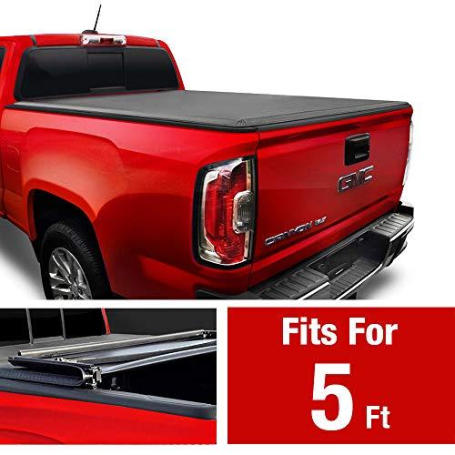 Maxmate Soft Tri Fold Truck Bed Tonneau Cover For 2015 2020 Chevy Colorado Gmc Canyon Fleetside 5 2 Bed