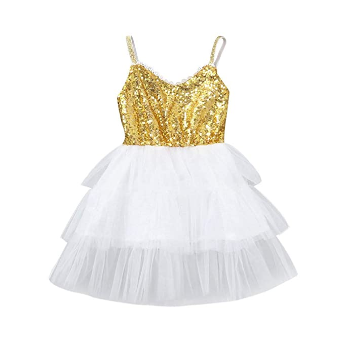 Amazon.com: GorNorriss Vestido de bebé para niñas, vestido ...