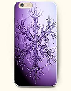 OOFIT Apple iPhone 6 Plus case 5.5 inches - A Purple Crystal Snowflake