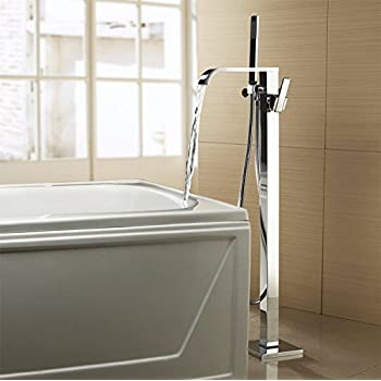 Chrome Finished Freestanding Tub Filler Floor Standing