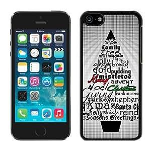 Popular Design Iphone 5C TPU Case Christmas Tree Black iPhone 5C Case 7