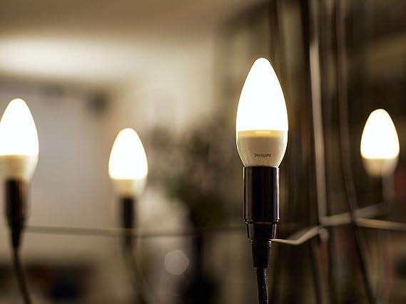Philips 6W E14 Bombilla LED vela mate 6 W, Blanco, Pack de 1