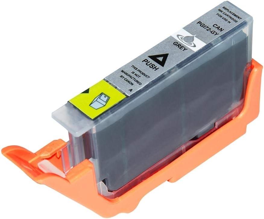 Asc Marken Tinte Für Canon Pgi 72 Gy 6409b001 Grau Kompatibel Bürobedarf Schreibwaren