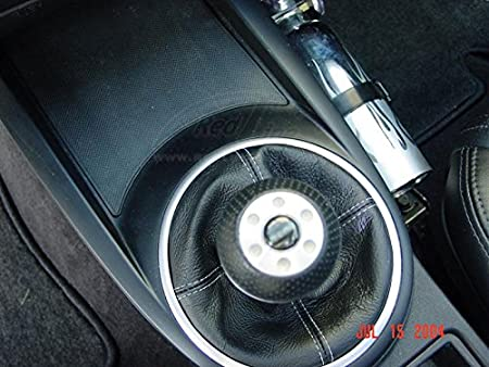 5-SPD Compatible with Hyundai Tiburon 2003-08 Black Leather-Blue Thread RedlineGoods Shift Boot