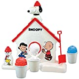 Original Snoopy Sno-cone Machine Shaved Ice Treat Maker with Flavor Mix by Peanuts