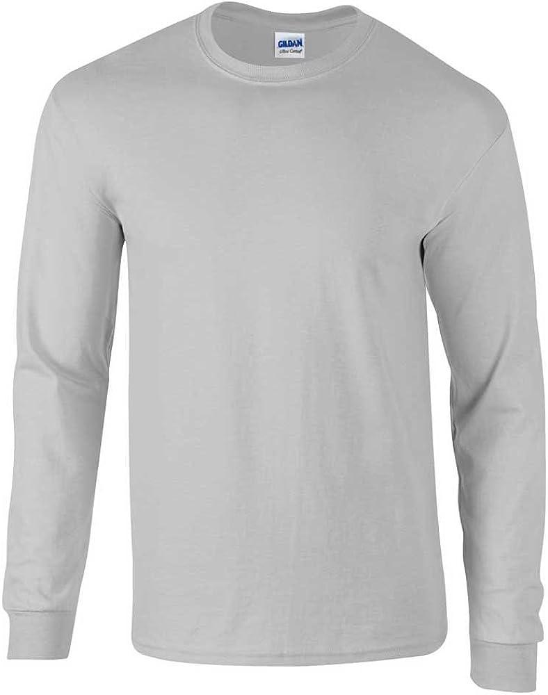 Gildan da Uomo Manica Lunga Ultra soffice Stile Maglietta Cotone