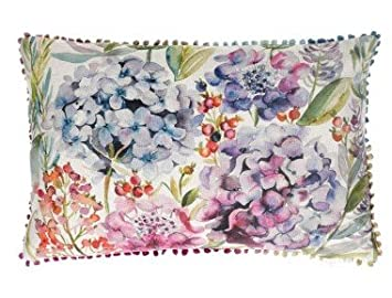 Interior Fabrics Voyage Maison hortensias cojín - Lino ...
