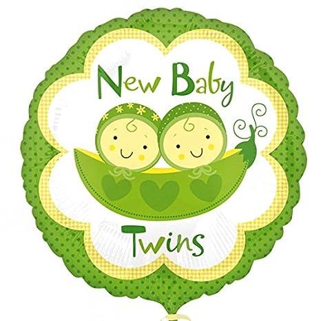 1 pieza New Babies Twins Peas in a pod de caseta de globo redondo