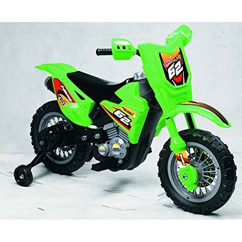 Best Ride On Cars Mini Dirt Bike Green 6V Ride On by Best...