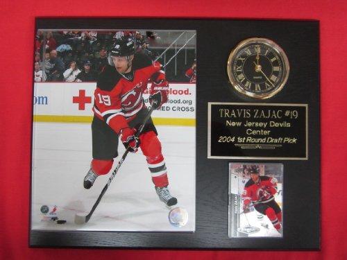 Travis Zajac New Jersey Devils Collectors Clock Plaque w/8x10 Photo and Card - Plaque Jersey Devils New