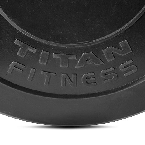 Titan Fitness Pair 15 lb Olympic Bumper Plate Black Benchpress Strength Training