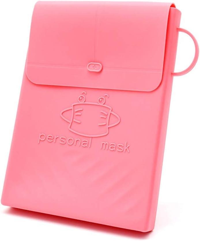 Coomir Máscara de Silicona Bolsa de Almacenamiento Multifunción Impermeable y a Prueba de Polvo Clip de Almacenamiento fácil de Transportar