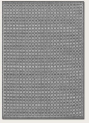 Couristan Black Saddle Stitch - Recife Saddle Stitch Grey/White Rug Rug Size: Square 8'6
