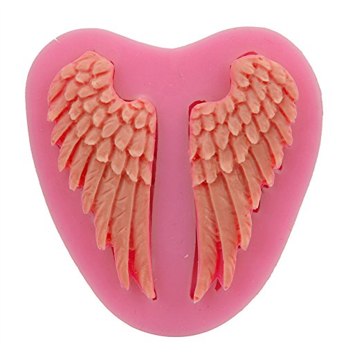 [Let'S Diy Angel Wings Fondant Silicone Cake Mold Cake Decorating Tools Baking Kitchen Accessories] (Angel Food Cake Costume)