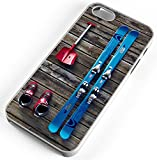 iPhone Case Fits iPhone 6 PLUS 6+ Ski Equipment Skies Skiing Snow Shovel Ski Boots White Rubber
