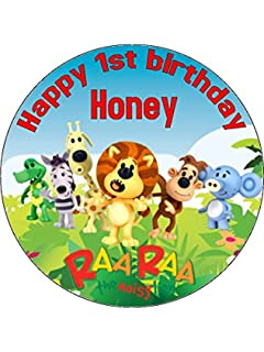 75 RaaRaa The Noisy Lion Edible Icing Birthday Cake Topper Raa