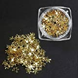 Dynamovolition 1 Box of Ultra Thin Nail Art Decoration Snow Flake 3D White Slices Sequins Piece 15g Manicure Accessories